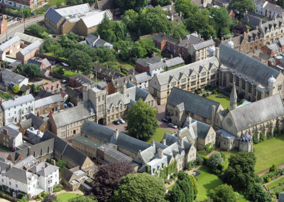 Uppingham School from above