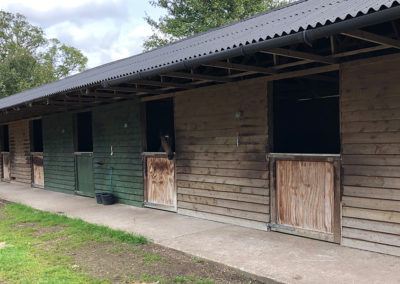 Facilities - Stables and riding paddock